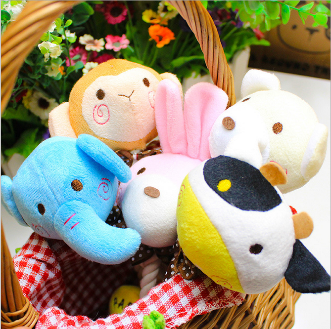 Factory Wholesale Plush More Animal Type Chew Toy Cotton Rope Pet Dog Toy