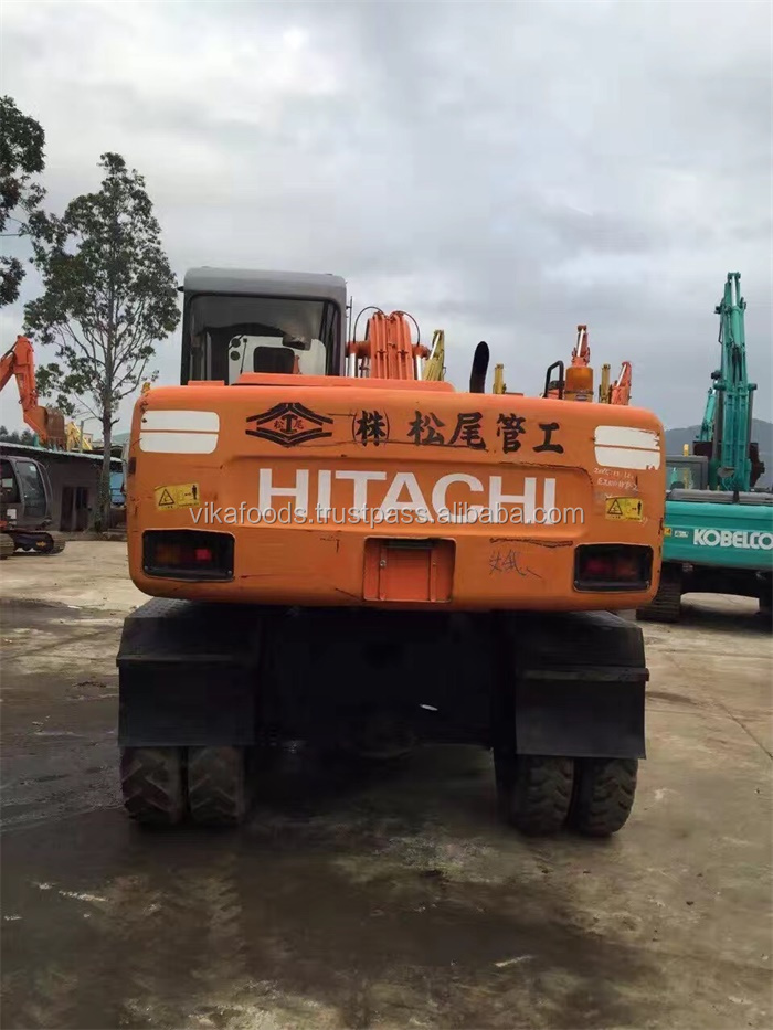 strong power EX100WD Hitachi wheel excavator Japan used cheap excavators for sale