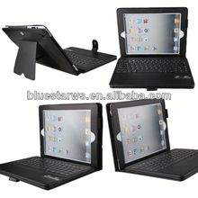 In stock with cheap price Bluetooth Keyboard Leather Case For Ipad 2 3 4 smart case