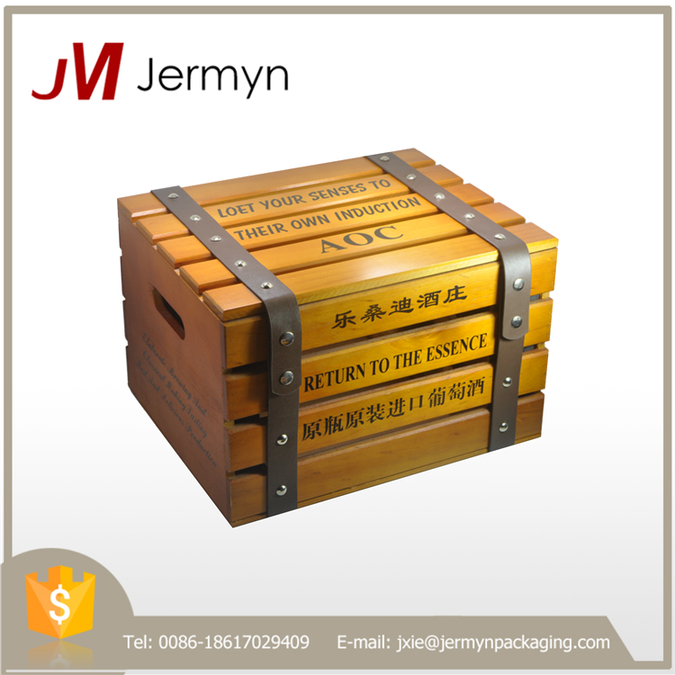 OEM customized wooden wine box gift box