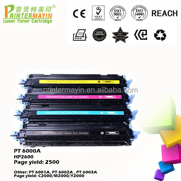 Discount Toner Cartridge Color Compatible Toner Q6000A FOR USE IN HP 2600 (PT 6000A)