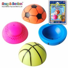 Wholesale ball design 30mm jumping popper ball toy for children