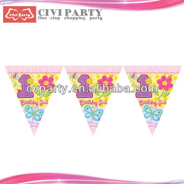 paper Colorful Flag Banner for Birthday Party cheap custom car window flags