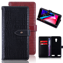 Wholesale High Quality PU Leather Flip Wallet Customized Mobile Cell Phone Accessories Back Cover for ZTE Blade A520