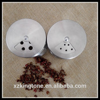 Stainless steel salt and pepper shaker/salt dispenser
