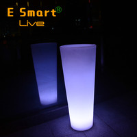 Latest Energy Saving Glowing Flower Pot, Outdoor Illuminated LED Flower Pot Planting