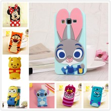 3D Cartoon Soft Silicone Case for Samsung Galaxy S3 Duos S4 S5 Neo S6 S7 edge Grand Prime A3 A5 J1 Mini J3 J5 J7 2016 2015 Cover