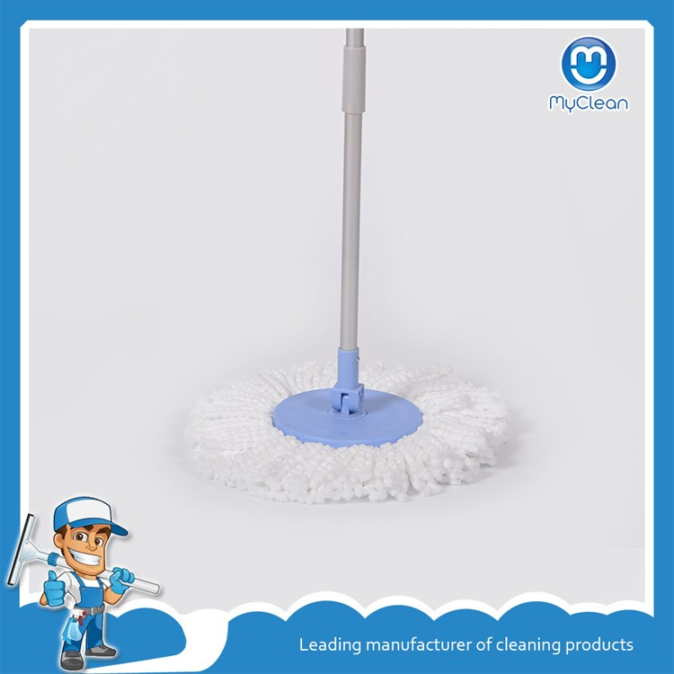 blue microfiber starcj magic spin go mop