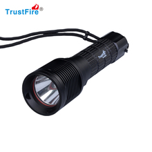 100m diving depth TrustFire DF007 Diving torch led scuba diving flashlight,military underwater fishing flashlight waterproof