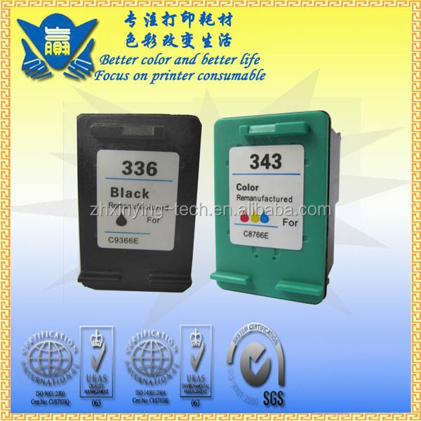 Remanufactured Ink Cartridge for HP 336 343 ,use in 5740/6450/6540/6520/6620/6840/9800