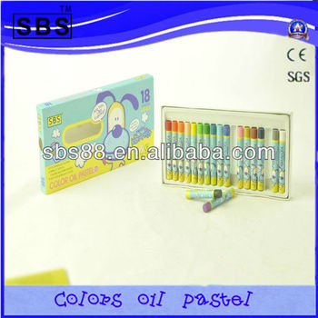 18 color small round watercolor oil pastel