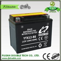 Super power rechargeable vrla MF 12v 12ah mf motorcycle batteria