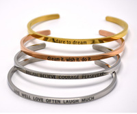Custom Stainless Steel Jewelry Bangle Engraved Bracelets Wholesale S3-0197