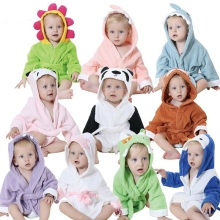 fashion animal baby hooded bathrobe baby bath towel bathrobe