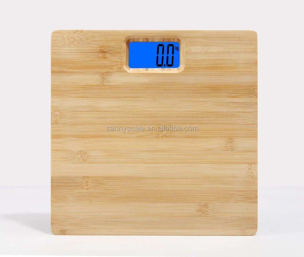 Bamboo platform bathroom weighing scales electronic 180kg/396lbs
