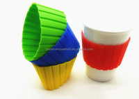 Promotional Heat-resistance Custom Silicone Coffee Cup Sleeve