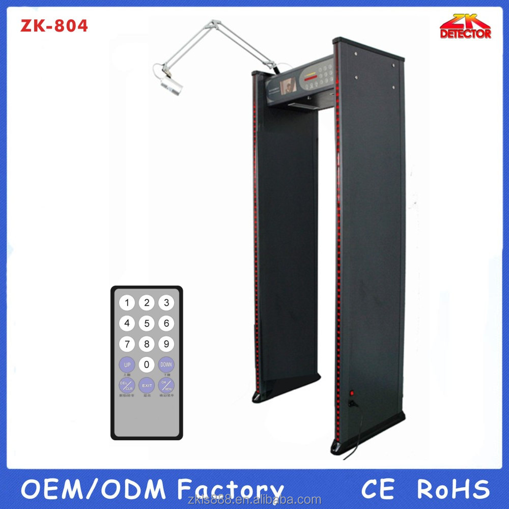 OEM ZK804 Walk through metal detector With camera & Video