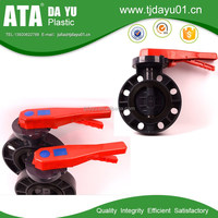 china supplier upvc butterfly valves lever handle type for agriculture irrigation