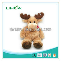 Cute furry deer keychain toy
