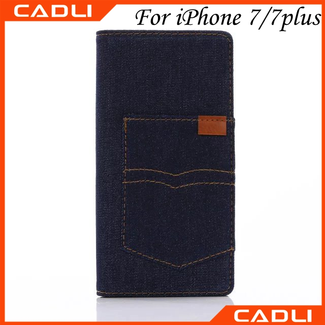 Hot Sale Luxury Cell Phone Case Making Cloth Jean Material For Iphone 7 7plus