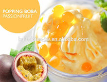TOPPING BOBA PASSIONFRUIT FLAVOR, FRUIT JUICE BALL POPPING BOBA