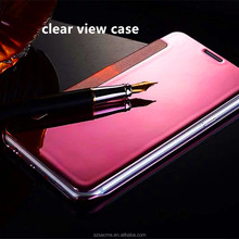High Quality Clear View Smart Cover Flip Leather Cell Phone Case for Samsung Galaxy S8 Plus