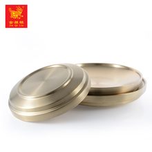 hot selling characteristic tableware cheap metal gold dinner plate for hotel use