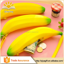 wholesale banana custom silicone pencil case for teenagers
