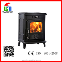 classic freestanding cast iron wood burning stove for sale, with water boiler