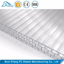 clear heat resistant plastic cellular poly carbonate building material for awnings