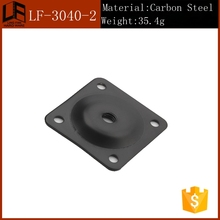 square upper plate unadjustable stain finish iron cabinet leg