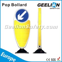 Flexible Yellow traffic delineator post/delineator post road delineators