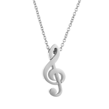 2018 Wholesale Cheap 316L Stainless Steel Note Pendant Women Necklace