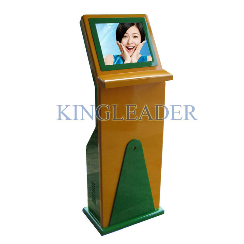 Touch Screen Information Kiosk with WIN7/ LINUX / XP system For Ticket Booking