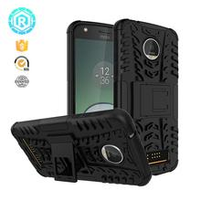 Hybrid mobile phone case for moto z play rock case