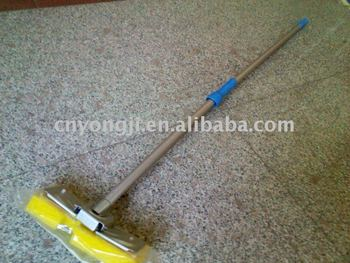 metal holder cellulose sponge mop with Two sections Alu Handle