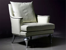 single sofa chair with armrest nappa leather sofa