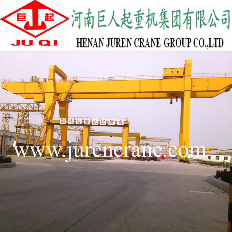 China supplier widely used double girder mobile gantry crane 160 ton crane