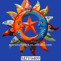 Talavera star and moon creative design 3d sun Wall Decor