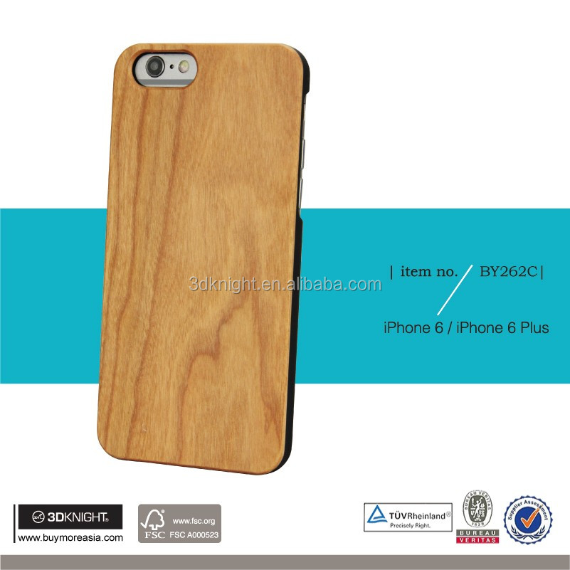 For iPhone 6s Wood Case,Custom DIY Blank Hard Back Engraving Printing Optional Wood Bamboo Phone Case Bumper for iPhone6s Plus
