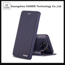 XUNDD New Design PU Leather Back Cover Mobile Phone Case for Samsung Note 5 N9200 Case PU Leather