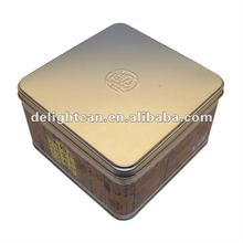 Square egg roll tin/metal can/box