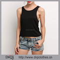 Wholesale Women Vest Style Sexy Black Hollow Out Basic Sleeveless Slim Fit Backless Summer Tank Tops