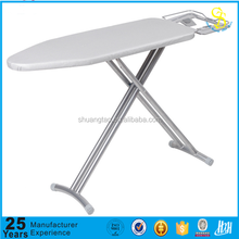 Household folding ironing board with step ladder, mesh top ironing board