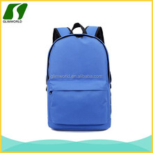 Customize different colors simple style polyester daylife backpack