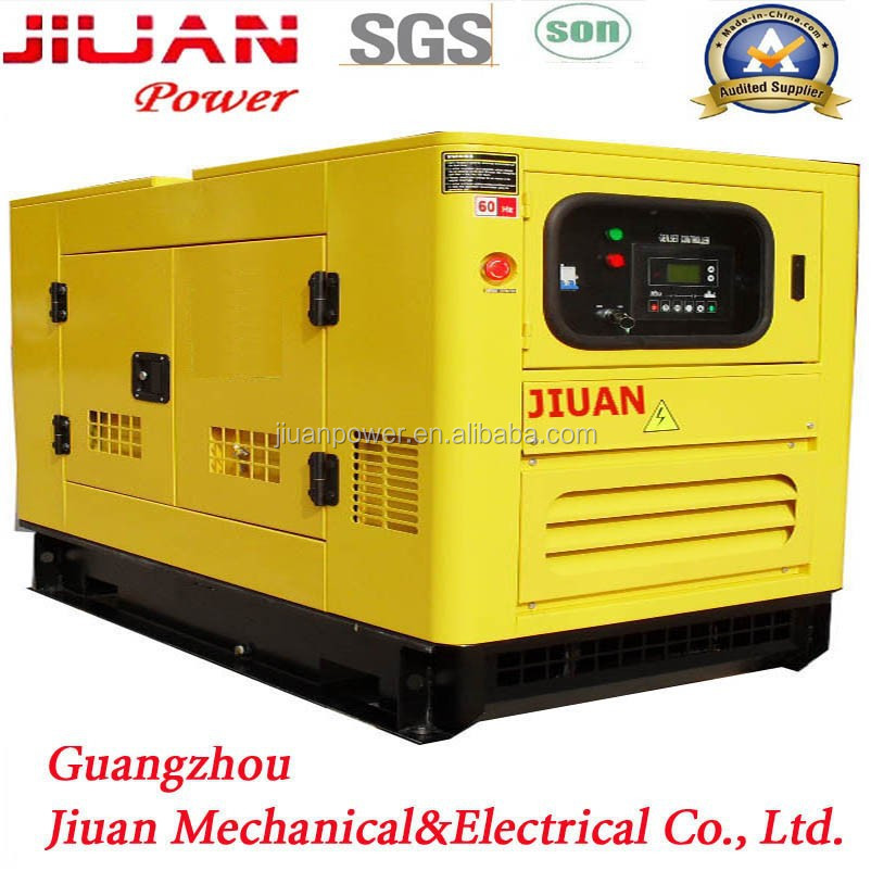 Silent diesel power electric generator with brushless alternator avr for generator set