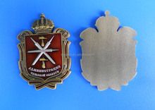 shield and crown zinc alloy metal craft metal plate decoration