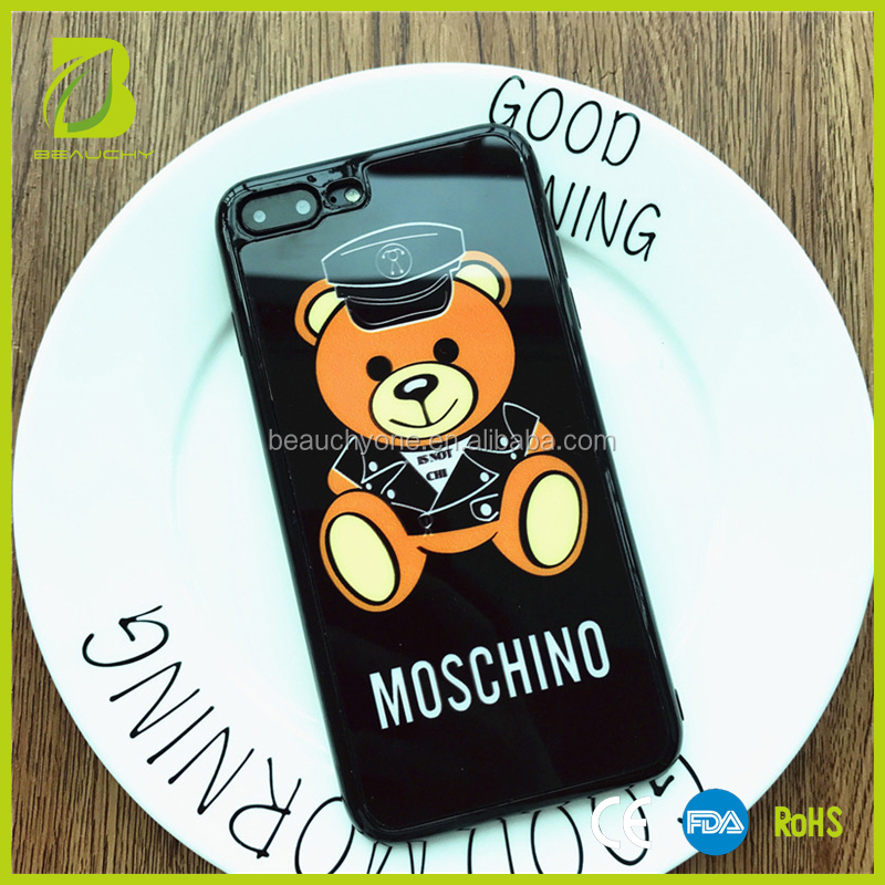 Beauchy Cute Teddy Bear TPU Mobile Phone Case for iphone 8, please contact