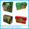Take away fruits corrugated packing carton handle box