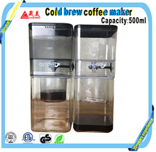 6 Cup (500ml) Cold- Innovative Adjustable Dripper with Glass Carafe Filter Achieve Great Tasting-Cold Brew Coffee Maker